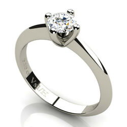 0.50 Carats Diamond Vs1 H Solitaire Engagement Ring White Solid Gold 18 Carats