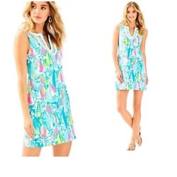 NWT Brand New Lilly Pulitzer Harper Shift Dress Multi Beach And Bae Size Large $129.50