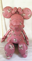 NWT COACH x Disney XL Minnie Mouse Floral Pink Leather Doll - MSRP $2000-SOLDOUT