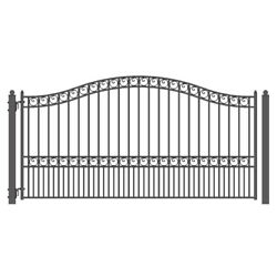 Aleko Steel Garden Yard Iron Wrought Single Driveway Gate 12and039x6and039 Paris Style