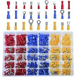 Dedc 480pcs Insulated Wiring Terminals Wire Connectors Assortment Electrical