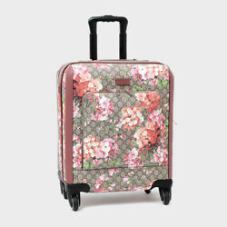 GUCCI GG Blooms Carry Hand Suit Case Travel Bag Pink Rose Flower 451003 KU2VD