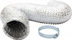IPower 6 Inch 8 Feet Non-Insulated Flex Air Aluminum Ducting Dryer Ve