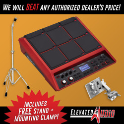 Roland SPD-SX SE Red Sampling Pad + FREE APC-33 Clamp & Ludwig L426CS Stand!