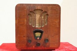 Radio Philips Mod. 836a Super Inductance Receiver Tube Valve Wood Fat Old Prod