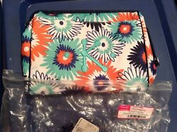 Thirty One Cosmetic Bag in Paradise Pop personalized with a K