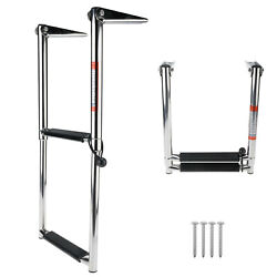 Amarine-made 2 Step Stainless Steel Telescoping Boat Ladder Us Stock