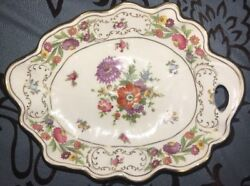 Vintage Hammersley Floral Tray Dresden Sprays Bone China Made In England.