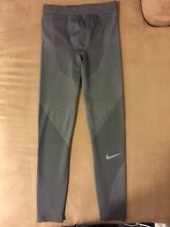 Nike Zonal Strength Menand039s Running Tights Midnight Fog Size S