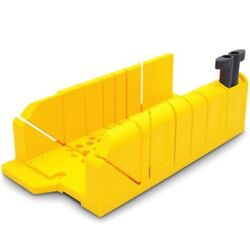 Stanley Clamping Mitre Box Injection Moulded, Patented Cam Lock Yellowusa Brand