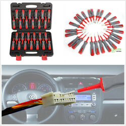 25Pc Car Terminal Wiring Crimp Connector Pin Remover Tool Set Release Tool w/Box