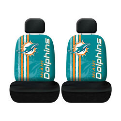Miami Dolphins Football Low Back Seat Covers Universal For Cars Suvs - 4 Pc