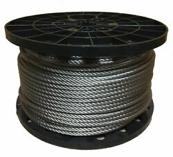 1/4 Stainless Steel Aircraft Cable Wire Rope 7x19 Type 304 3000 Feet