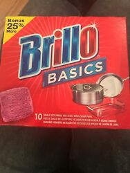 Brillo Steel Wool Soap Scour Pads 8 Cleaning Pads Per Box Bbq Oven Cookware