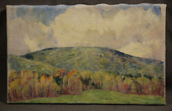 Dines Carlsen, Antique American Oil Painting Impresionistic, Mexican Mountain