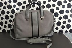 TUMI Women's Ballistic Nylon Gray Carry On Crossbody Slim Briefcase Laptop Bag