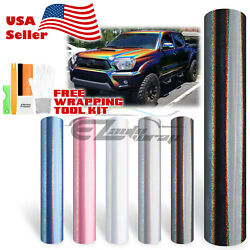 【psychedelic】gloss Metallic Glossy Rainbow Holographic Vinyl Wrap Air Release