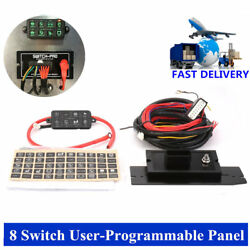 8 Switch 8100 User-Programmable Panel Power System for Jeep Boat