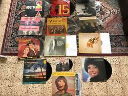 Lot Of 13 Old Records The Beatles The Weavers Paaul Anka Billy Joel And More