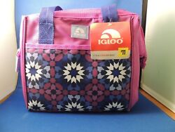 New Igloo Insulated Left Over Tote Cooler Bag Lunch NWT Beach Travel Purple Pink