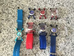 Wrist Watches Lot Stock Mens Womens Mixed Timezone Kool Time Weird Unique Clock