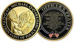 St. Michael Patron Saint Of Police Officers Prayer Us Military Challenge Coin