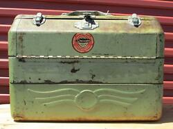 Vintage Simonsen Fishing Tackle Box And Contents Full Lots Of Luresspoonsreels +