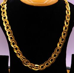 22 K GENUINE  VERY HEAVY DOUBLE LINK CHAIN UNIQUE SPECIAL HANDMADE DESIGN CHAIN