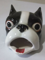 Vintage Ceramic Boston Terrier Ashtray