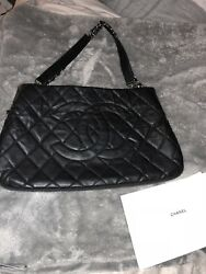 100% Authentic CHANEL  Quilted CoCo Chanel Designer Rare Find
