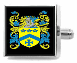 Titter England Family Crest Surname Coat Of Arms Cufflinks Personalised Case