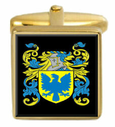 Forrest England Family Crest Surname Coat Of Arms Gold Cufflinks Engraved Box