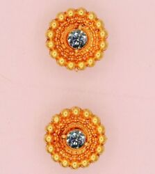 Vintage Antique Style 22 K Handmade 2 Cm Stud Earring Beautiful Womenand039s Jewelry