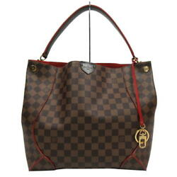 LOUIS VUITTON Damier Caissa Hobo Canvas Shoulder Hand Tote Bag N41555 Used Ex++