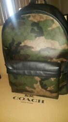 NWT Coach Charles Animated Signature Camo Men's Backpack F59914