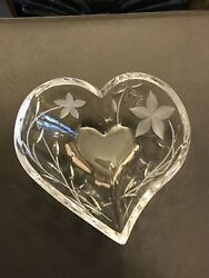"Hawaii Heart Of Love...  Lead Crystal One Of A Kind "" First One Bought Together"""
