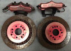 Jdm 92-98 Mercedes Benz W140 Wp Pro Performance 8 Pot Front Brake Calipers Rotor