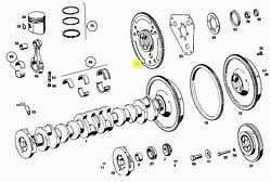 Mercedes Flexplate For Automatic Transmission New Oe M108 M114 M129 M130 Gas