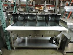 Duke 304 Four Compartment Steam Table W/ Roll Covers And Gas Hose - Lp