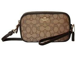 NEW COACH Boxed Signature Logo Clutch & Crossbody Bag Brown =Ebay SALE=