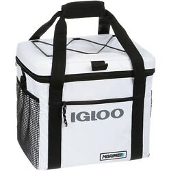 Igloo Marine Ultra White Black Square 24 Cooler Bag Drink Outdoor Beach Picnic