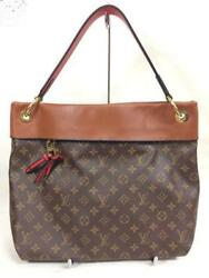 LOUIS VUITTON M43155 Shoulder Hand Tote Bag Caramel Leather Tuileries Hobo Used
