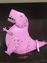 Kate Spade New York Whimsies T-Rex Crossbody Pink Leather Purse