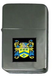 Titter Family Crest Surname Coat Of Arms Cigarette Ligther Personalised Engraved