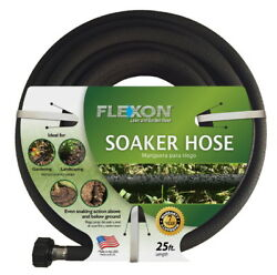 Garden Hose Soaker 25 ft Above and Below Ground Rubber 12-in Lawn Water FLEXON