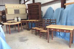 Vintage Dining Room Set 10 Pc, C1940 And1980 Turned Legs, Sturdy, Mahogany Stain