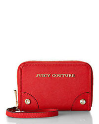 Nwt Juicy Couture 79 Saffiano Leather Wristlet Zip Around Wallet, Final Sale