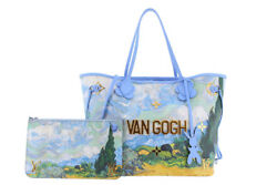 LOUIS VUITTON MASTERS NEVERFULL MM Jeff Koons VAN GOGH Paint Hand Bag WPouch