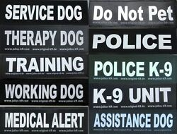 Small Patch for Julius K9 Harness Letters L Z NEW SERVICE DOG POLICE K 9