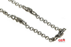 Barry Kieselstein Frog Necklace Chain Sterling Silver 925 Animals 18 1998 Cord